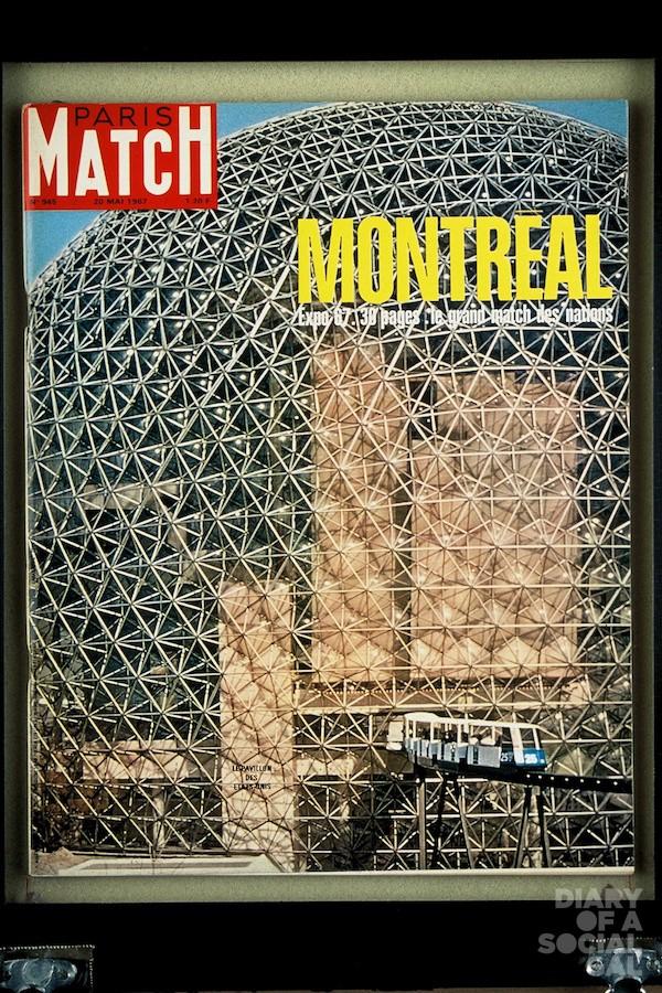Couverture du PARIS MATCH n°945 du 20 mai 1967 : le pavillon des Etas-Unis à Montréal lors de l'expo