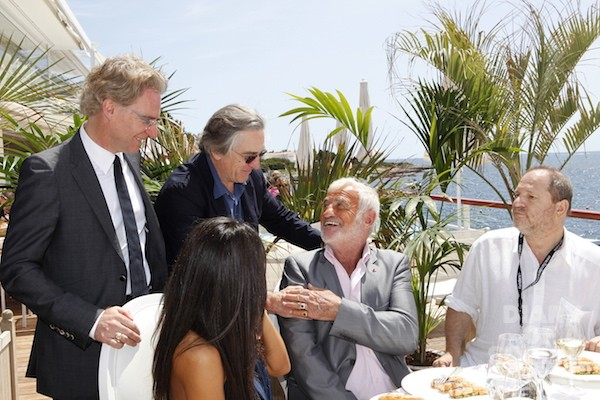 POWER LUNCH: OLIVIER ROYANT WITH HOLLWOOD ROYALSAT THE PARIS MATCH LUNCH AT THEEDEN ROC, CANNES FILM FEST 2012.