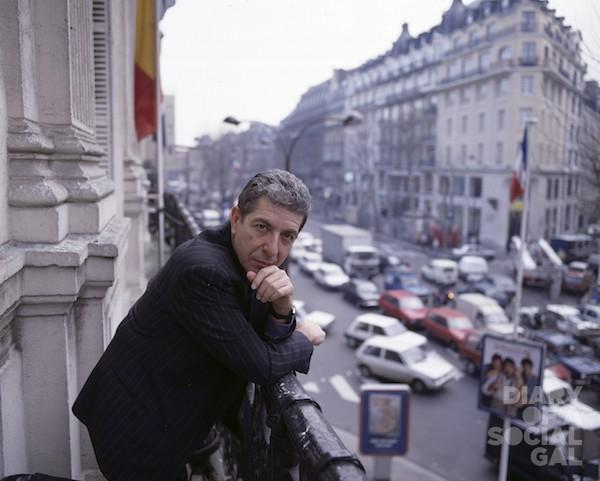 LEONARD COHEN IN GLORIOUS PARIS.