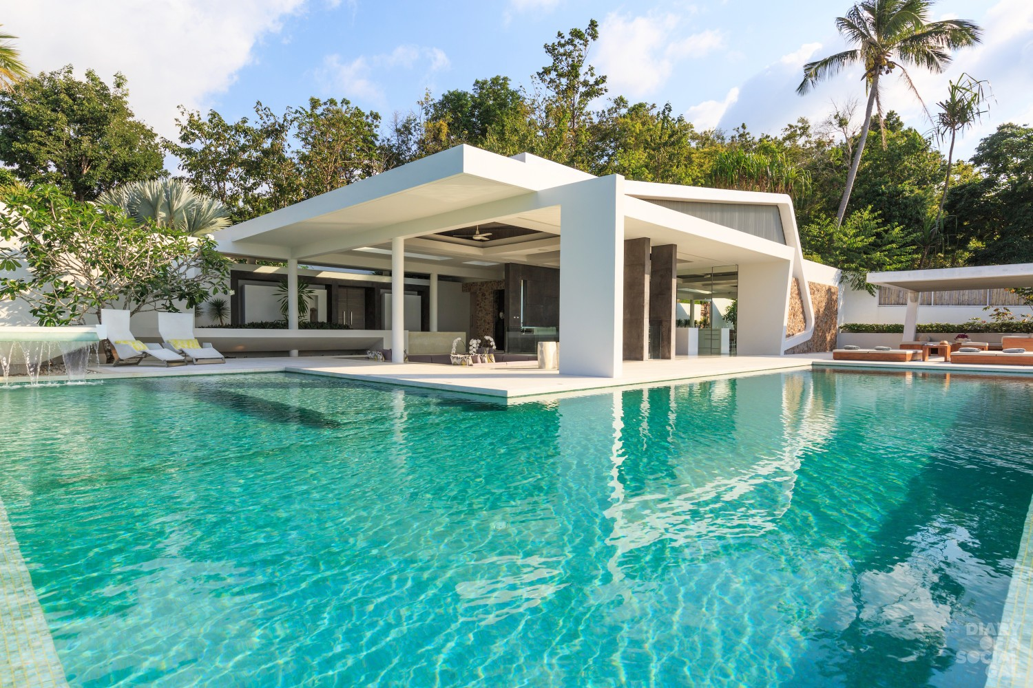 Celadon, a luxury and private villa located in the hills of Ban Por with ocean view, Koh Samui, Thailand