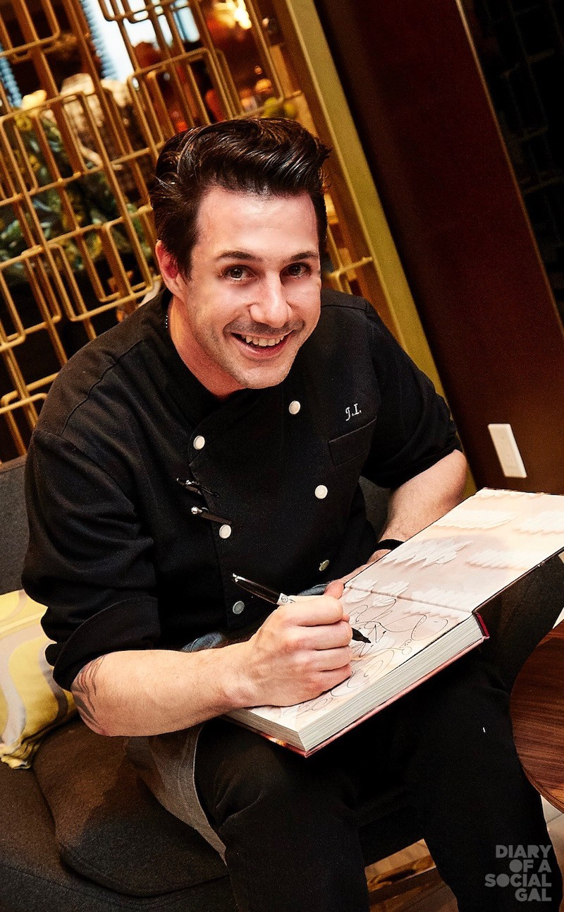 AUTO COOL: NY-based celebrity pastry chef JOHNNY IUZZINI signs autos for the MTL crowd.