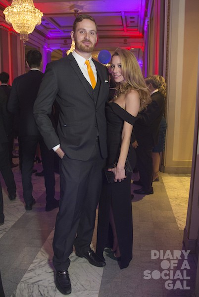ONE. HOT. COUPLE: JEAN-PHILIPPE SHOIRY in ARMANI and love, JESSICA CICCARELLO in a NICHOLAS gown.