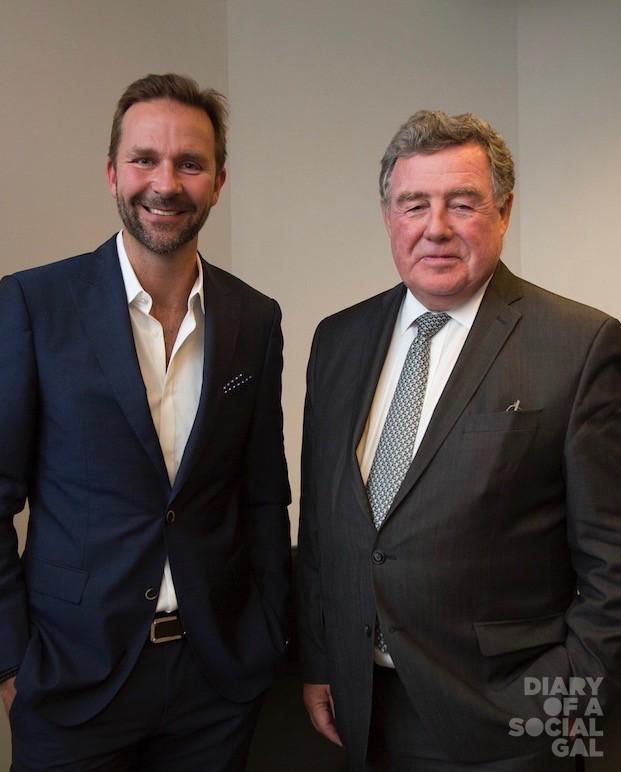 MEN OF THE HOUR:  Wow founder/CEO SKÚLI MOGENSEN and Aéroports de Montréal CEO JAMES CHERRY.