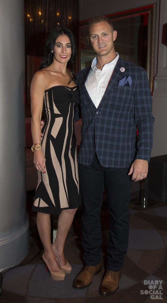U.S. VISITORS: ASHLEY PRICE in HERVÉ LÉGER and CHRISTIAN LOUBOUTIN and husband JUSTIN PRICE.