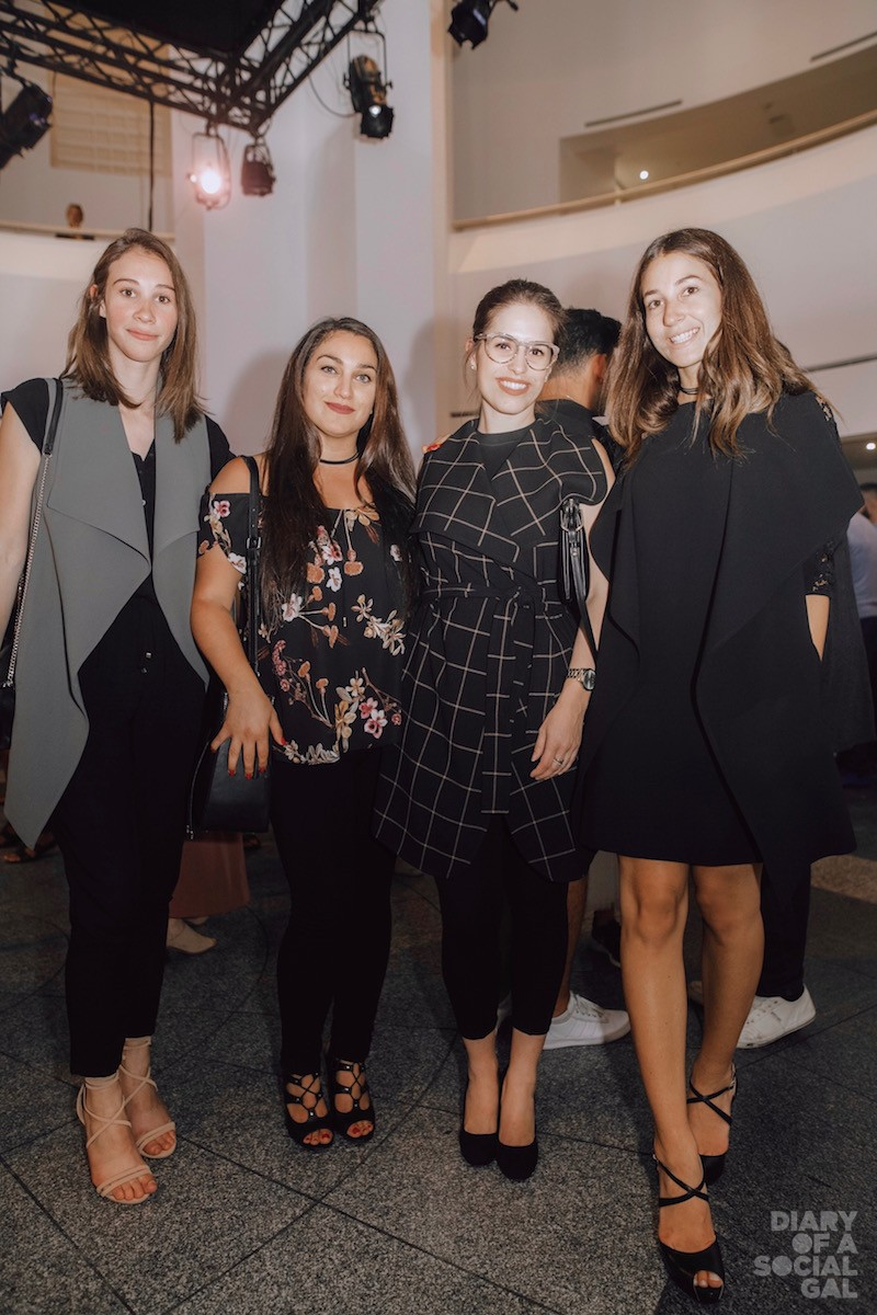 LADIES OF LE CHATEAU: TAYLOUR NEMBHARD, PATRIZIA CIVITARESE, MAGALIE HARVEY and ELYSSA MASTROMONACO,  all in LE CHATEAU.