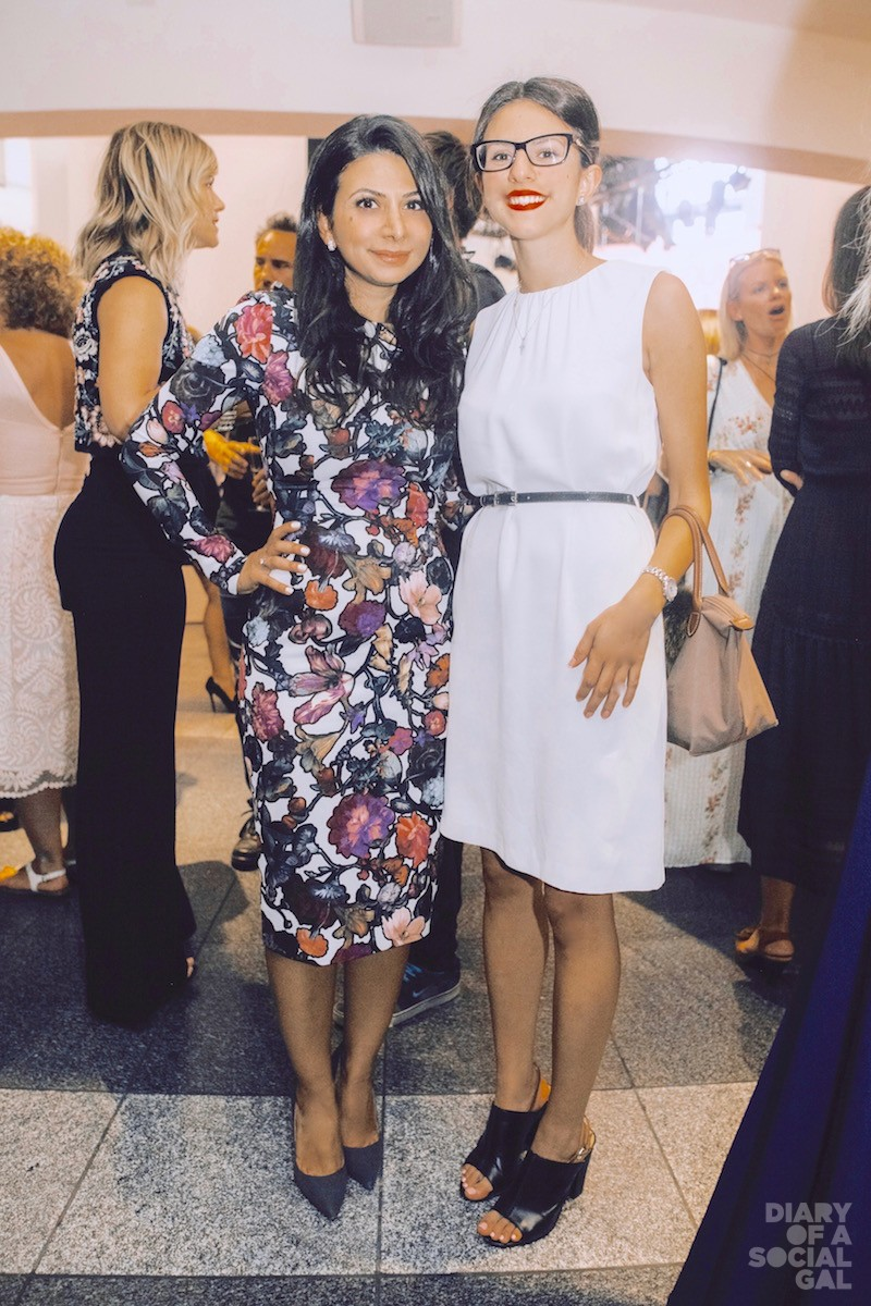 FROCKING GOOD: RITA ELIAS in CYNTHIA ROWLEY and sister, RAMIA ELIAS in ZARA.