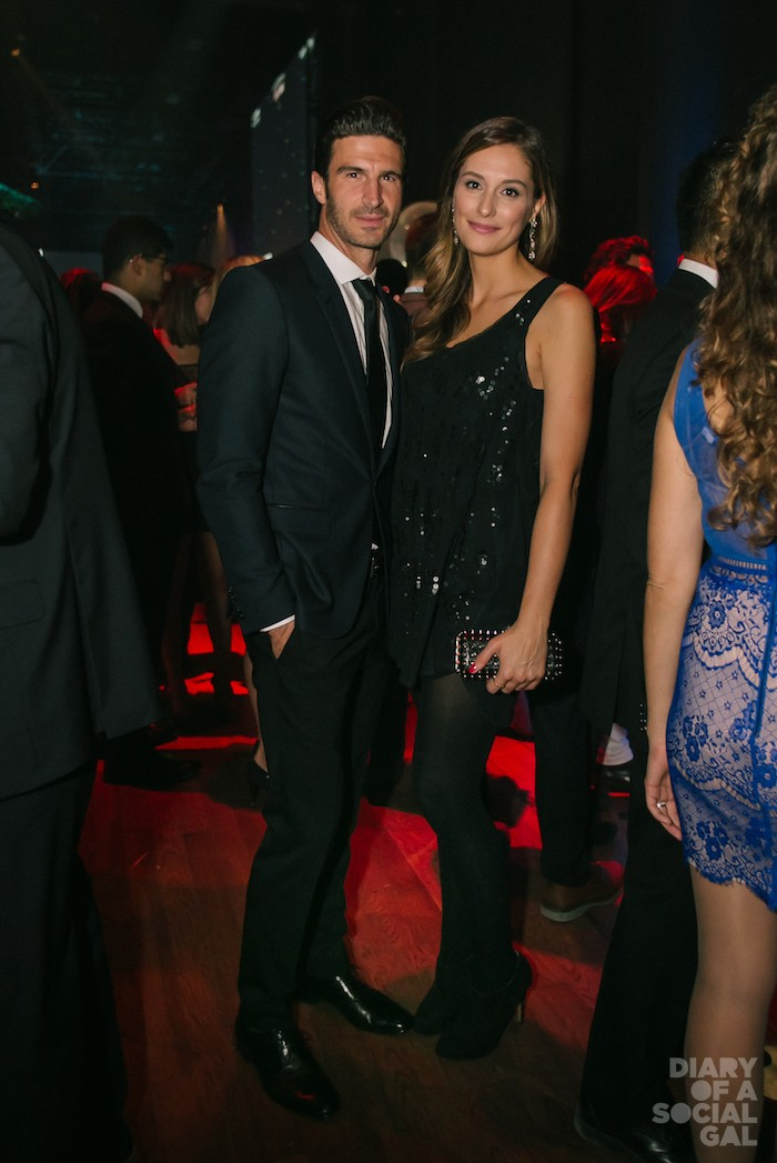 HAWTIES: MAT ROIS in HUGO BOSS and CHRISTINA KRCEVINAC in DIESEL.