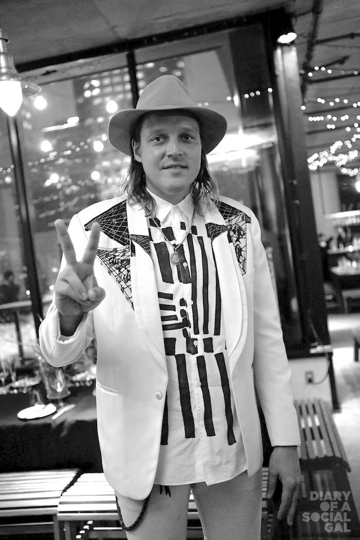 WIN-ING: Arcade Fire band member WIN BUTLER.