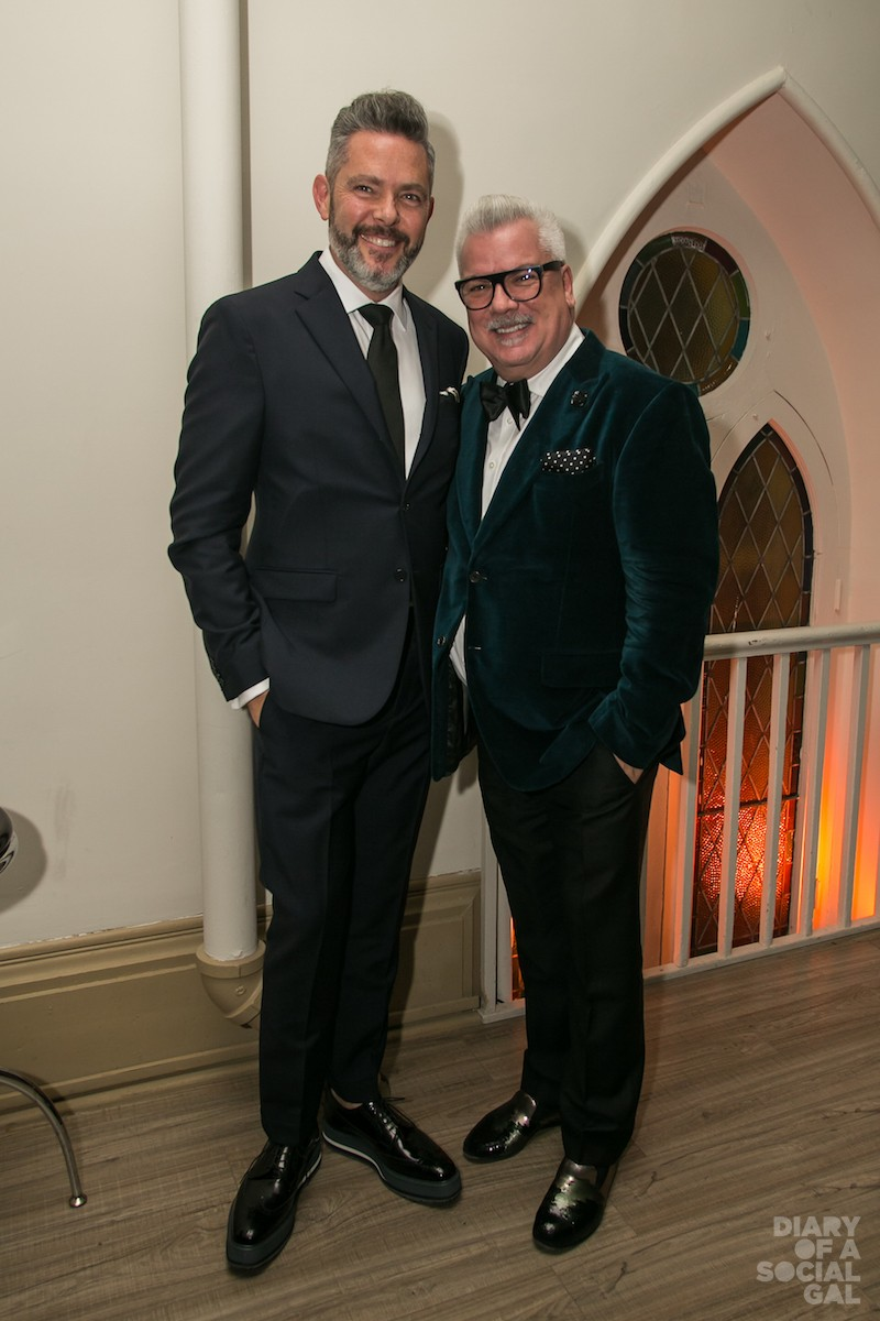 SUITING UP: Floral designer DAVID LAPIERRE and Holt Renfrew Ogilvy divisional vice president NORMAND CIARLO.
