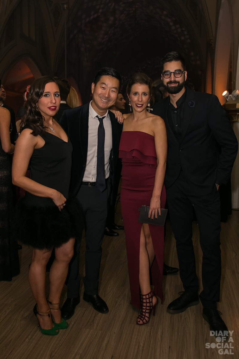 LEAN ON US: Rose PR founder / owner and committee member ASHLEY ROSENBERGER in ATELIER PRIVÉ MTL, Frank and Oak CEO ETHAN SONG, committee member ANICK BEAULIEU and entrepreneur / marketing pro NA'EEM ADAM.