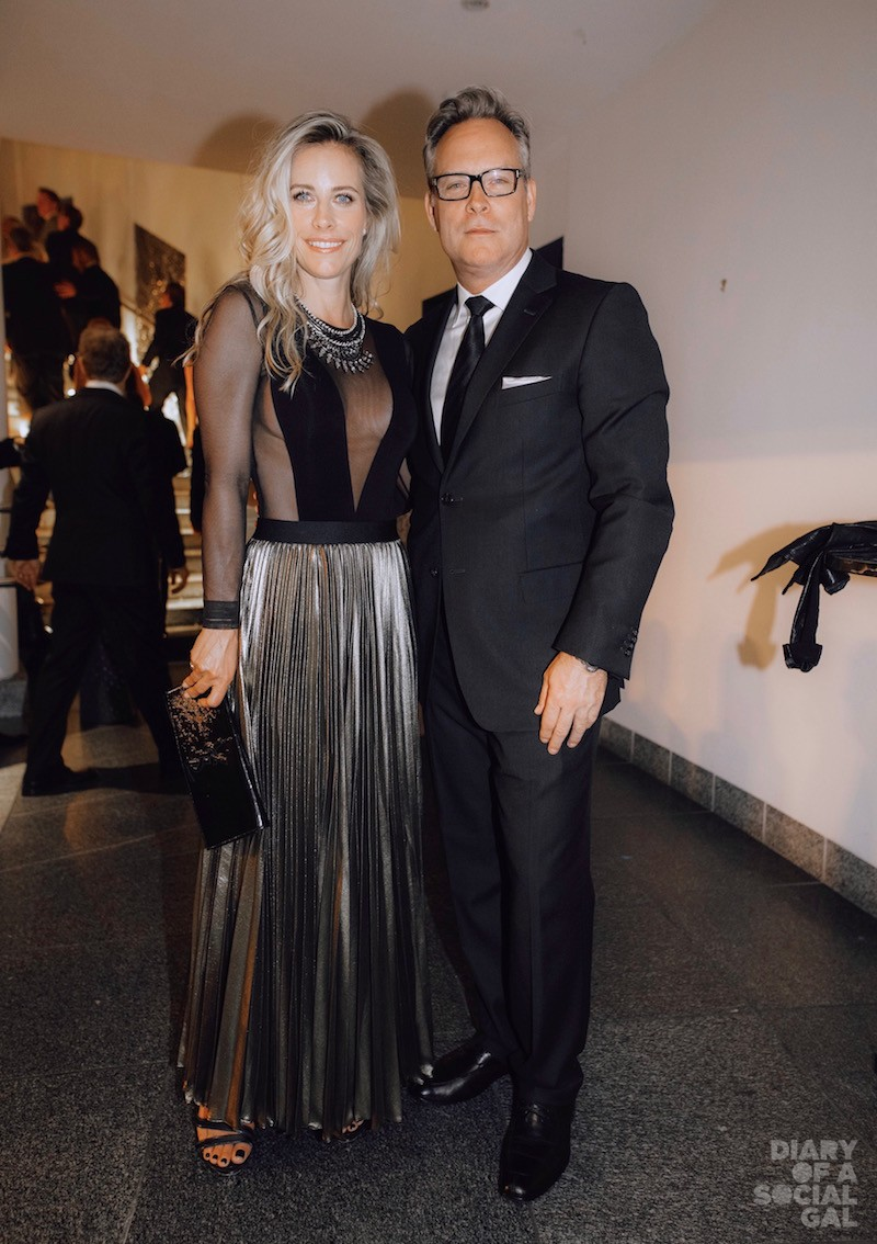 BRONZED & BEAUTIFUL: Actress / media personality JULIE DU PAGE in signature BCBGMAXAZRIA and husband, DAZMO partner ANDREW LAPIERRE in ZEGNA.