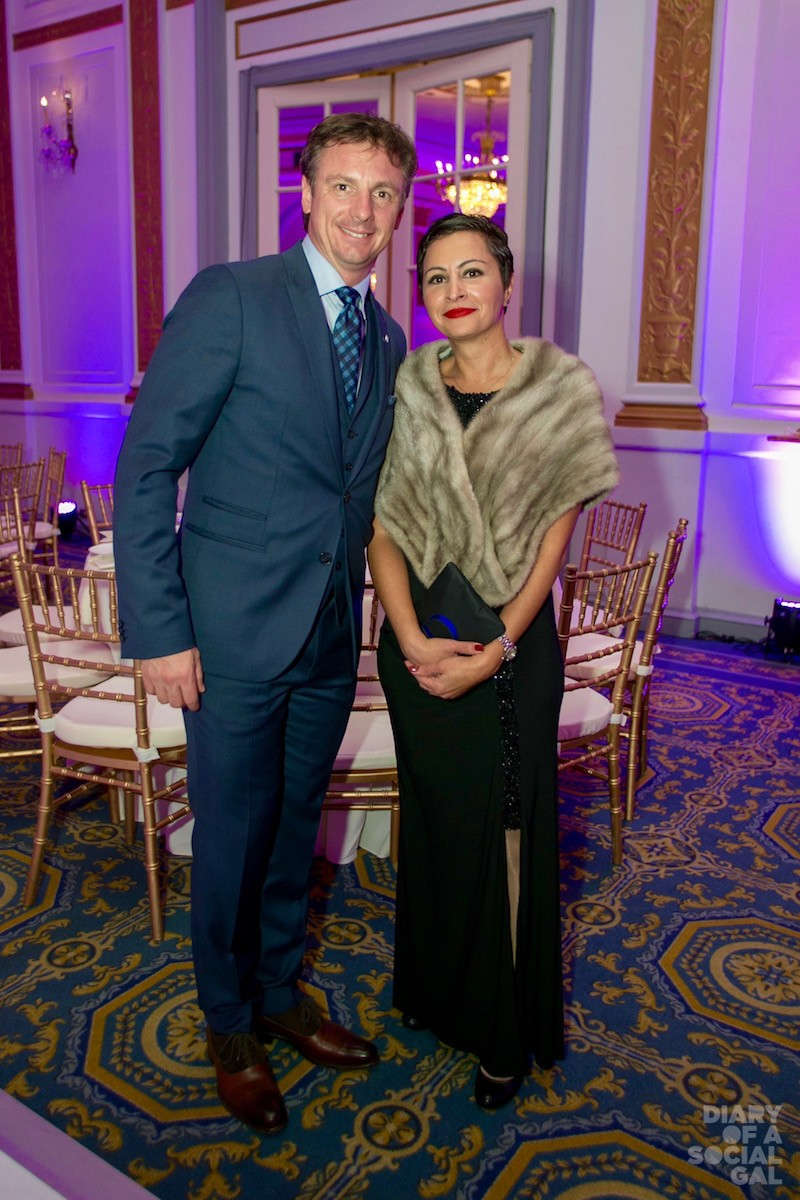 ALL SMILES: Desjardin Group super exec SYLVAIN THERIAULT and BOUCHRA CHAOUQ.