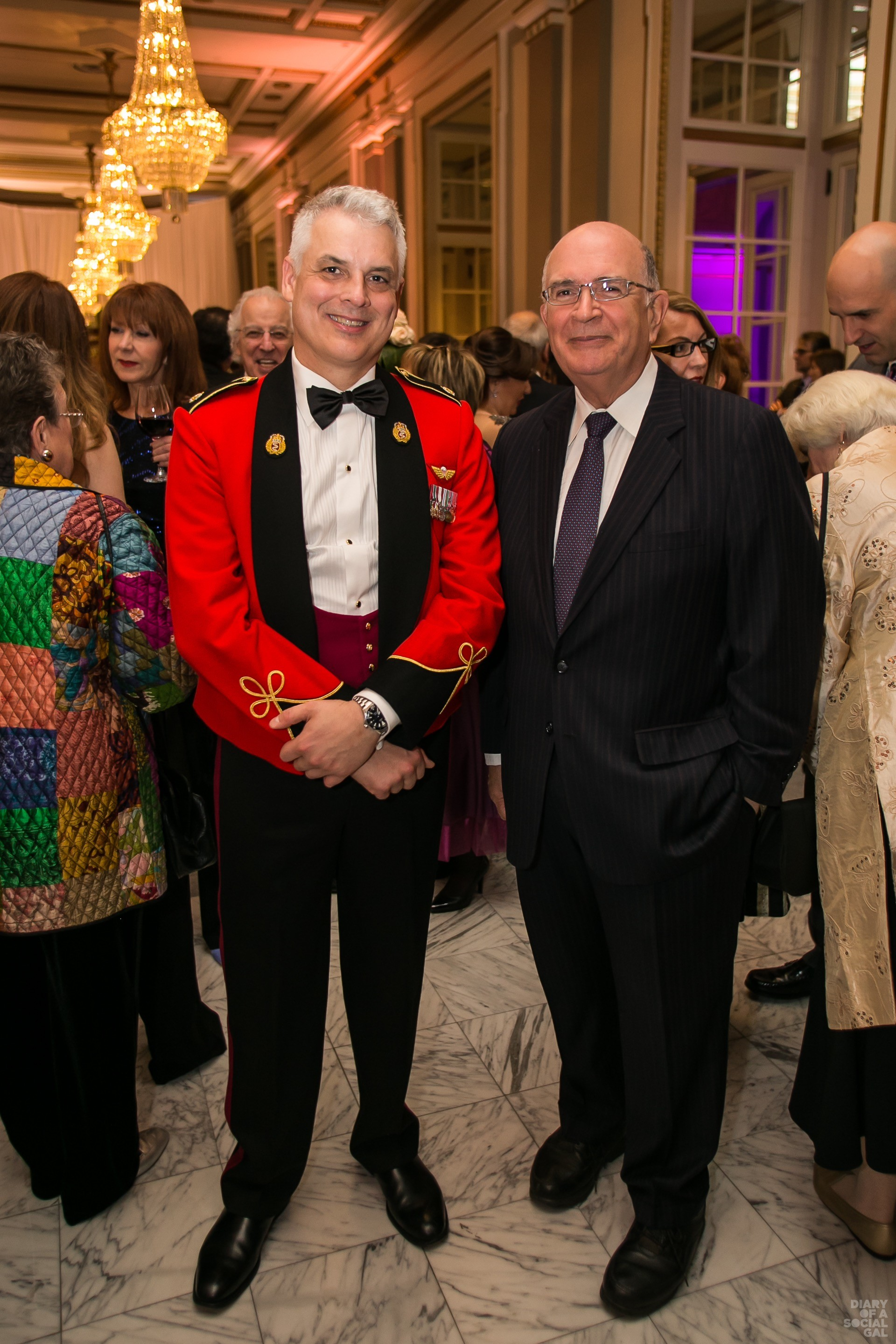 DASHING & DECORATED: MAJOR ANDREW BECKETT and Lt. Col. (retired) BRUCE BOLTON.
