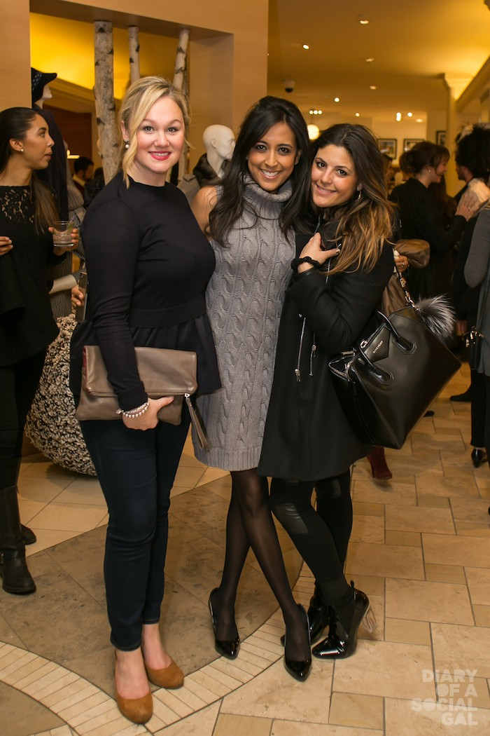 GORGE GALS: JULIE-ANNE COYLE, Mont Blanc babe VIBI PATEL and songstress CHRISTINA CAPOBIANCO.