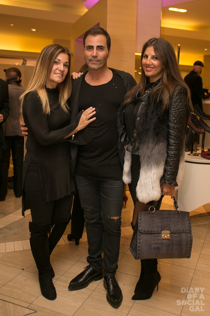 PARTY PEOPLE: EFFIE SGOURAKIS, husband MANNY SGOURAKIS of Luluthia Floral Design and pal, event goddess PETIA MANOLOVA.