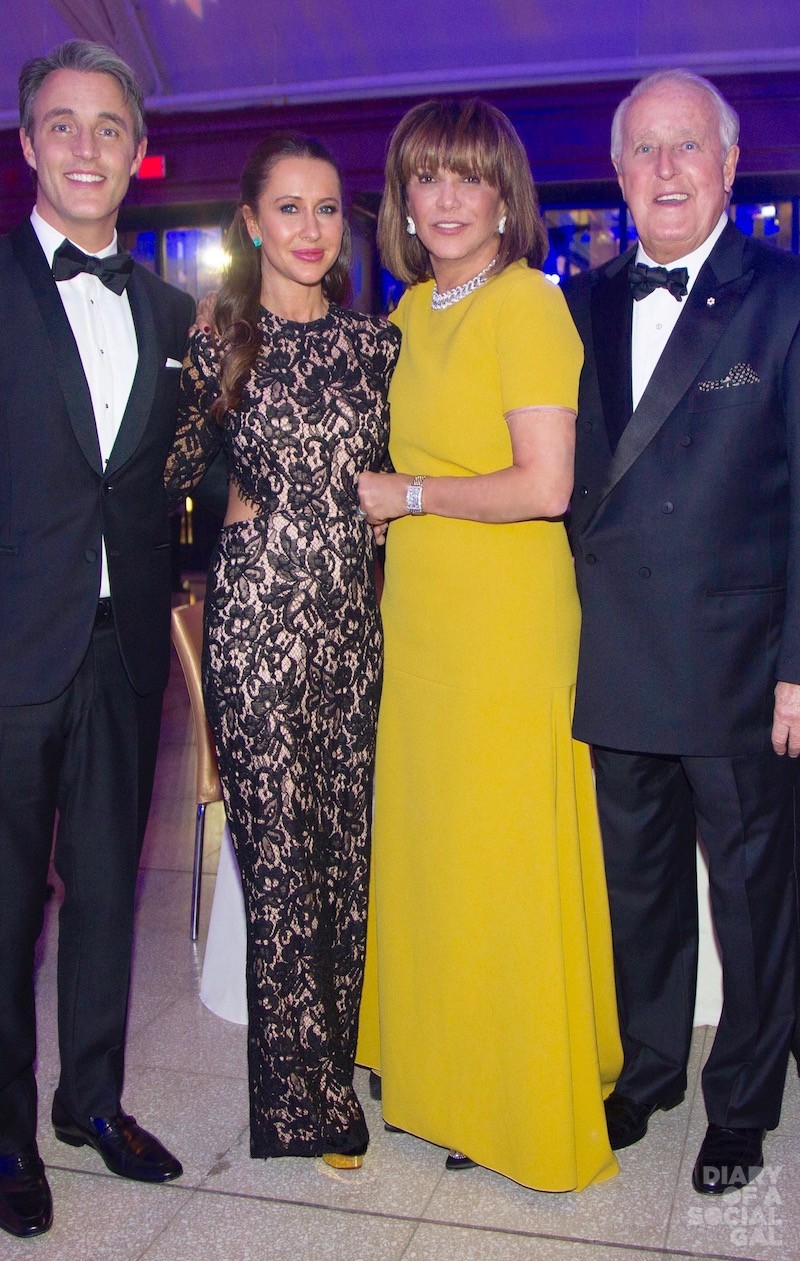 MILA MAKES MAGIC: Emcee and CFC national ambassador BEN MURONEY, wife, influencer JESSICA BROWNSTEIN MULRONEY, honouree MILA MULRONEY and husband, former PM BRIAN MULRONEY.