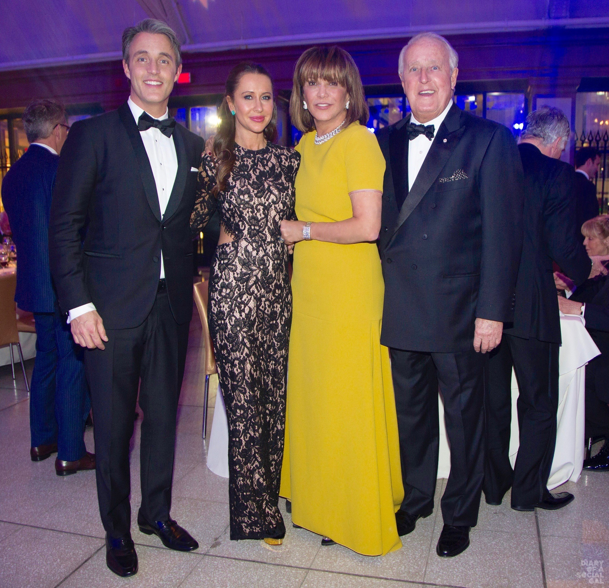 MILA MAKES MAGIC: Emcee and CFC national ambassador Ben Muroney, wife, influencer Jessica Brownstein Mulroney, honouree Mila Mulroney, and husband, former PM Brian Mulroney at the recent Progress in Cystic Fibrosis Research Gala at Windsor Station. VINCENZO D'ALTO.