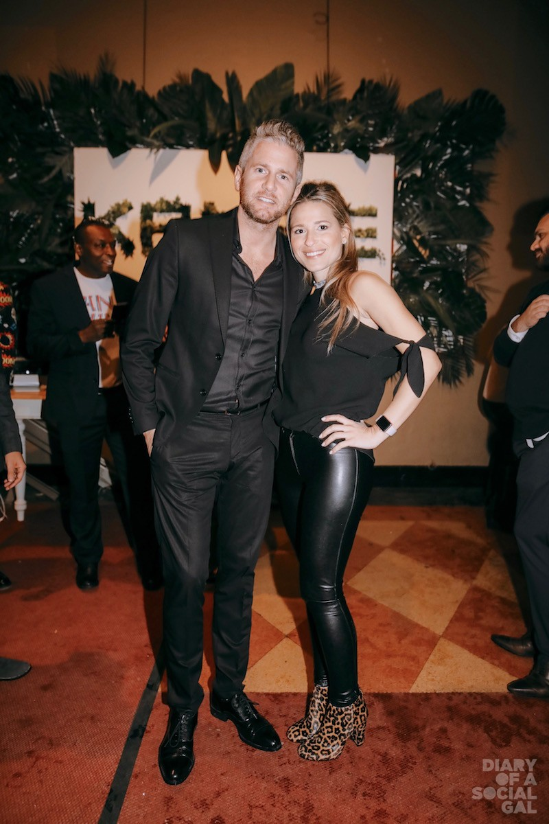 TWINSIES IN NOIR: CIJA's JOSH WOLFE and love MARIA ANTONOPOULOS, of the Antonopoulos Groupe.