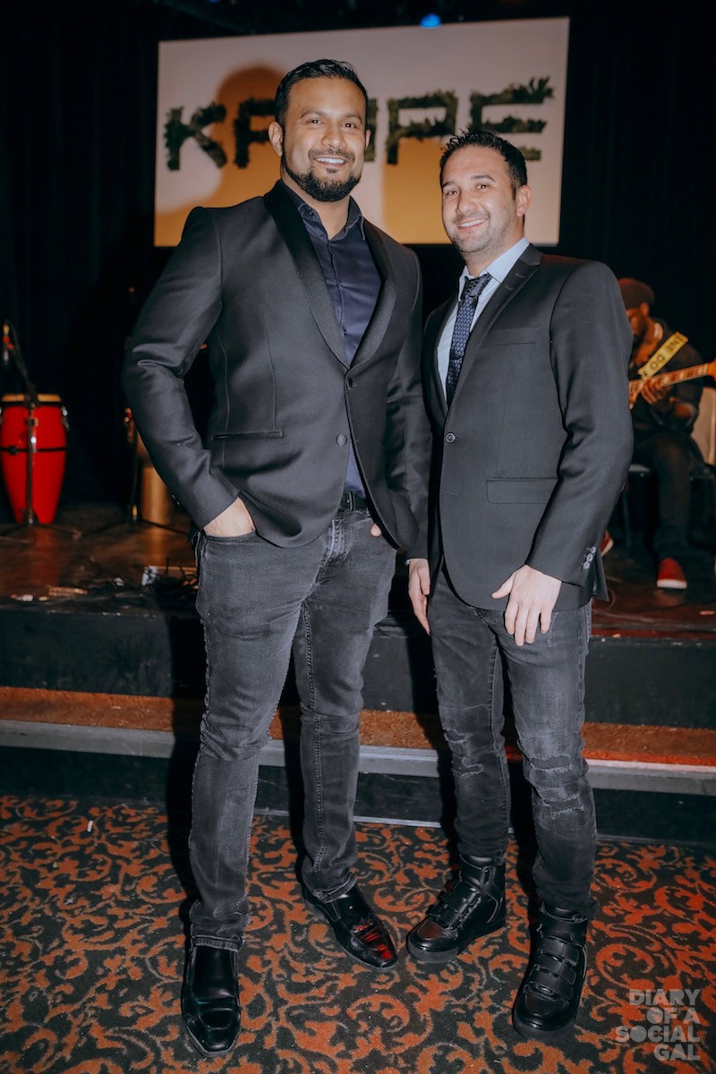 LIGHTSPEED POWERPAIR: Founder /CEO of Lightspeed DAX DASILVA and PR director BRADLEY GRILL, both in TIGER OF LONDON MONTREAL.