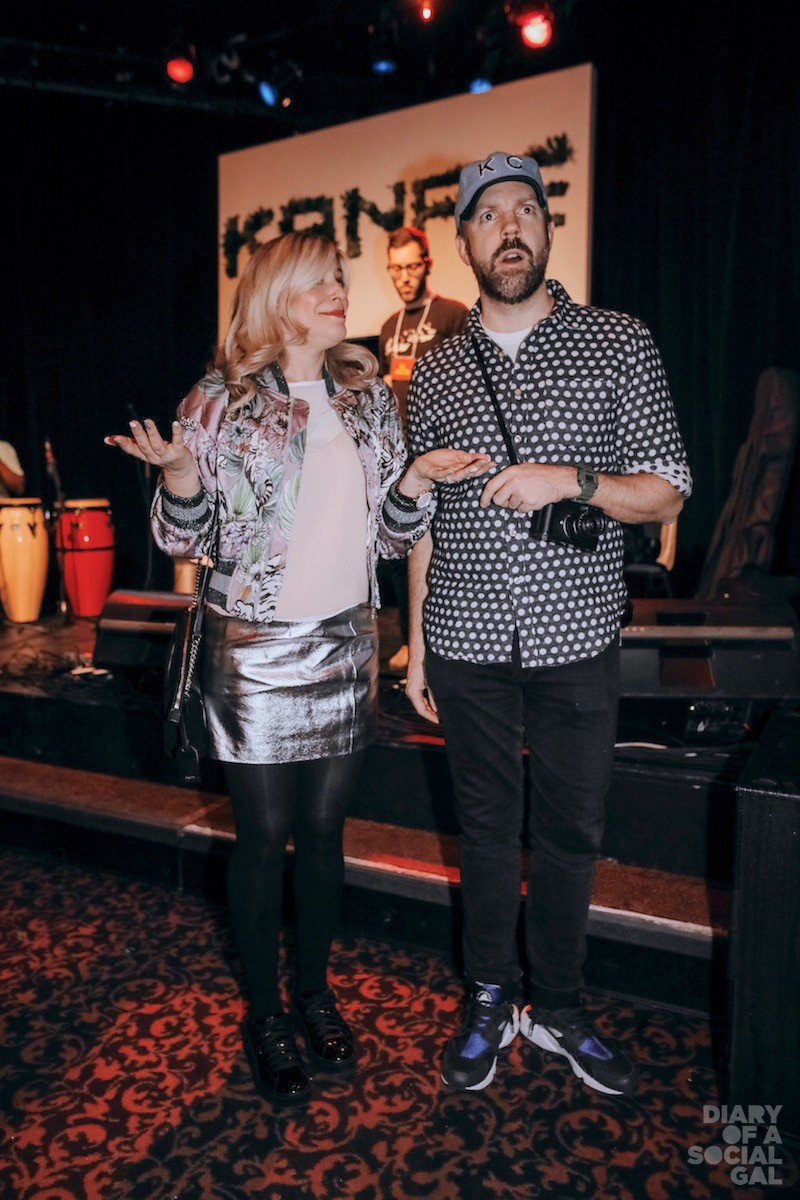 FUN KO-HOST KAPTURE: Media personality ANNE-MARIE WITHENSHAW and movie star /  comedian extraordinaire JASON SUDEIKIS.