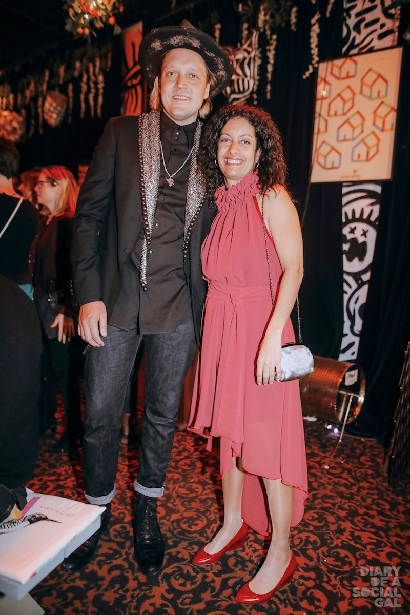 PROUD PALS: Arcade Fire's WIN BUTLER and Kanaval co-founder, minister DOMINIQUE ANGLADE.