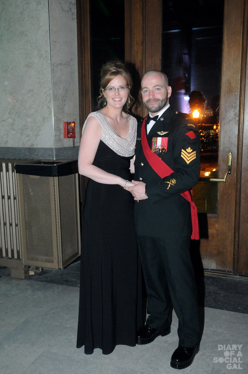COZY COUPLE: Elegant LEIGH ANN KILLIN and decorated officer JONATHAN TREMBLY.