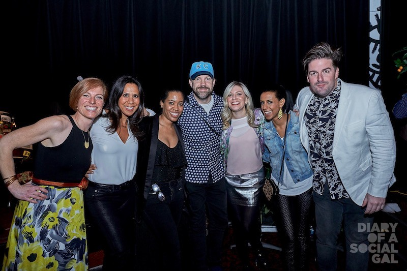SIZZLE SQUAD: Foundation director ISABELLE THIBAULT, personality ISABELLE RACICOT, KANPE PR liaison &  Milagro PR atelier tops MARTINE ST-VICTOR, movie star / funnyman JASON SUDEIKIS, fellow event host ANNE-MARIE WITHENSHAW, personality REBECCA MAKONNEN, and CHOM'S JAY WALKER.