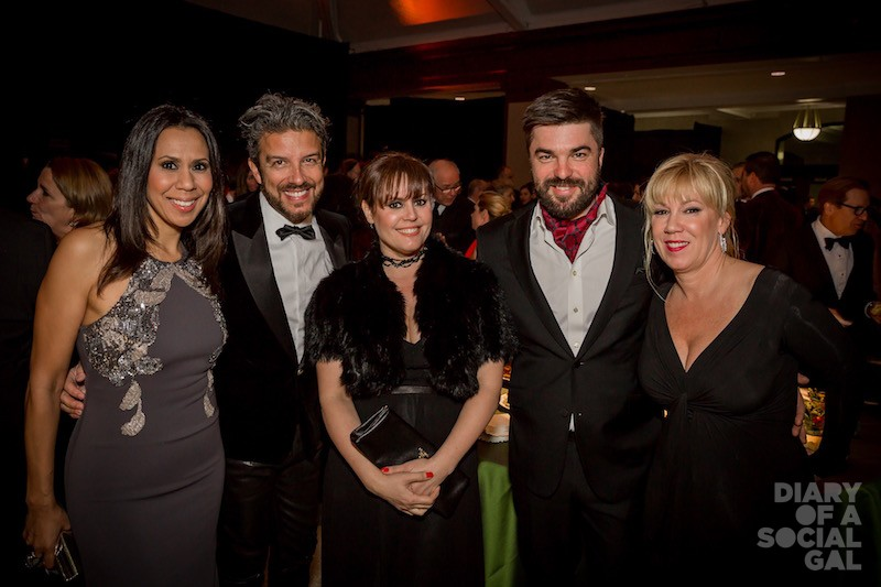STAR POWER! Event emcee ISABELLE RACICOT, joins fellow perosnalities JEAN AIROLDI, PATRICIA PAQUIN, LOUIS-FRANÇOIS MARCOTTE, and Cava Rose event powerhouse PAULE LABELLE.