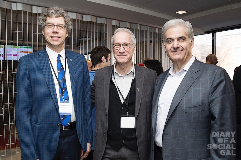 POWERHOUSE POLITICIANS ON SCENE: Cote des Neiges-NDG mayor RUSSELL COPEMAN, D'Arcy McGee MNA DAVID BIRNBAUM, and Montreal West mayor BENY MASELLA   .
