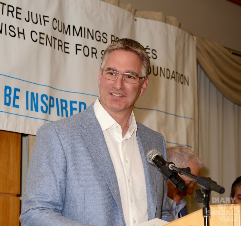 MEANINGFUL MOMENT AT THE MIKE: Guest of honour JOEL LEONOFF, CEO of Paysafe plc, addresses the audience.