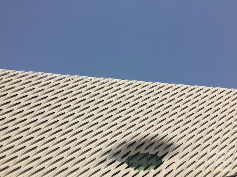 OUTSIDE VIEW: THE BROAD MUSEUM.