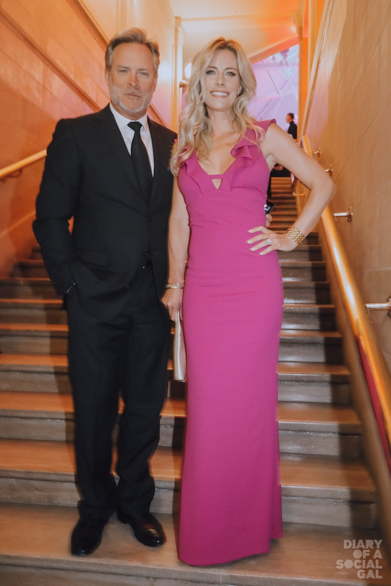 POP GOES THE PINK! Daze partner ANDREW LAPIERRE in ZEGNA and wife, actress and radio host JULIE DU PAGE.