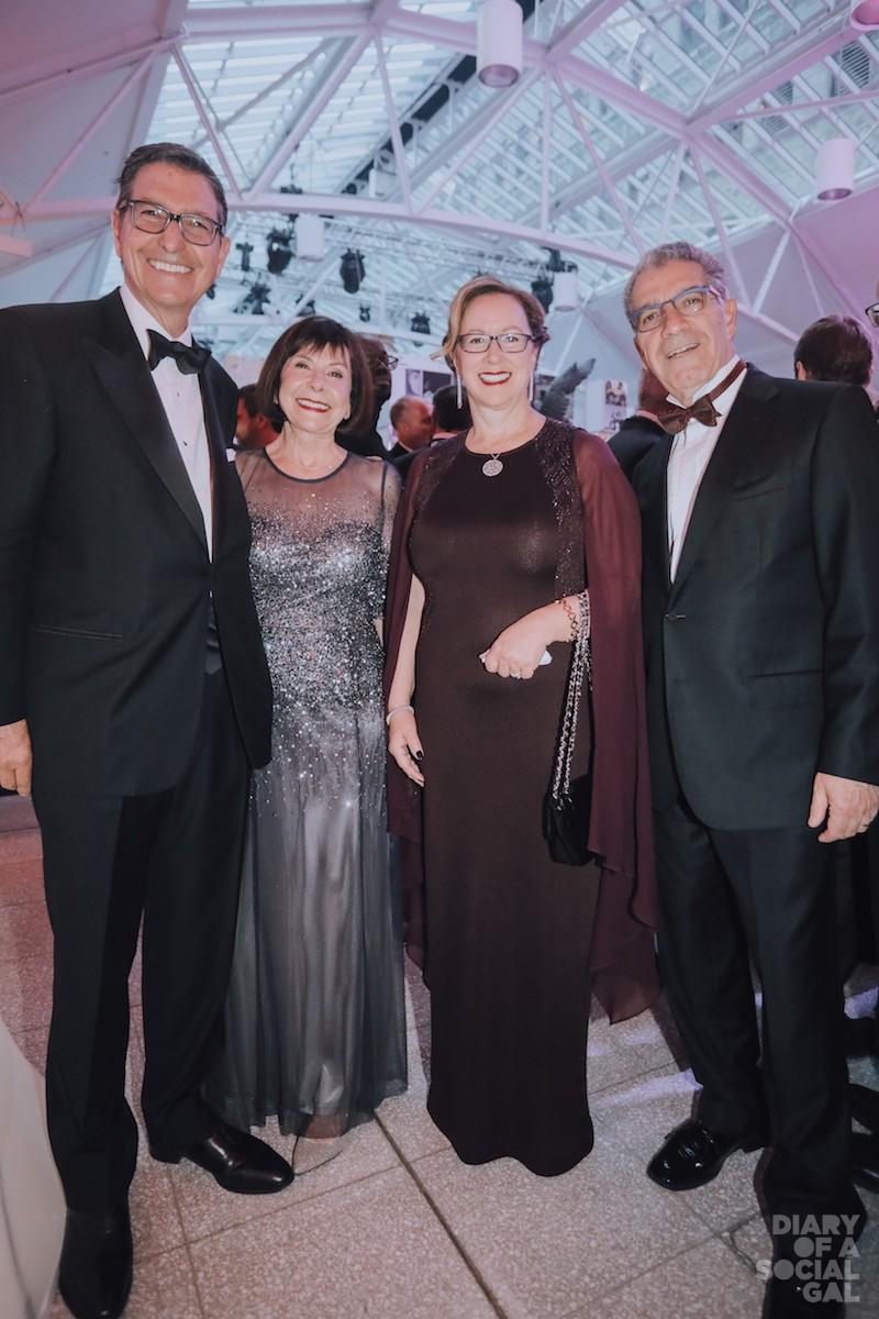 CORPS GO COCKTAIL CHIC: Norton Rose Fulbright Canada's NORMAN M. STEINBERG, wife RENÉE KESSLER, Telus executive vice-president MONIQUE MERCIER and husband, playwright SHAUL EZER.