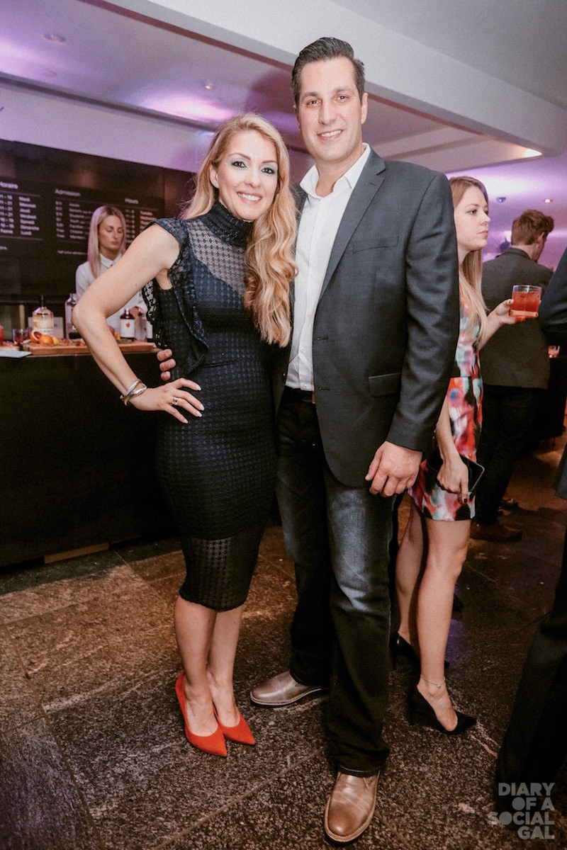 POSE PERFECTION: PR goddess EFFIE GIANNOU and handsome hub CHRIS KARMIRIS.