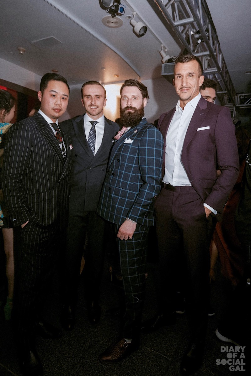 SURMESUR GUYS MEET SARTORIALTO: CHARLES DESNOYERS, DEVEN YE, and MARIUS GUETTA, sport their SUR MESUR brand alongside proud Sartorialto man FRANCISCO RANDEZ.