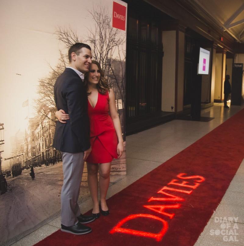 DAVIES' DARLINGS: ANDREW APRIL and fiancée, Davies' CHRISTINA SAURO.