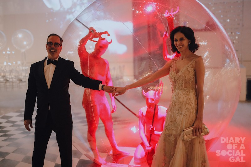 IN THE PINK: Art director DICK WALSH and committee member BITA CATTELAN.