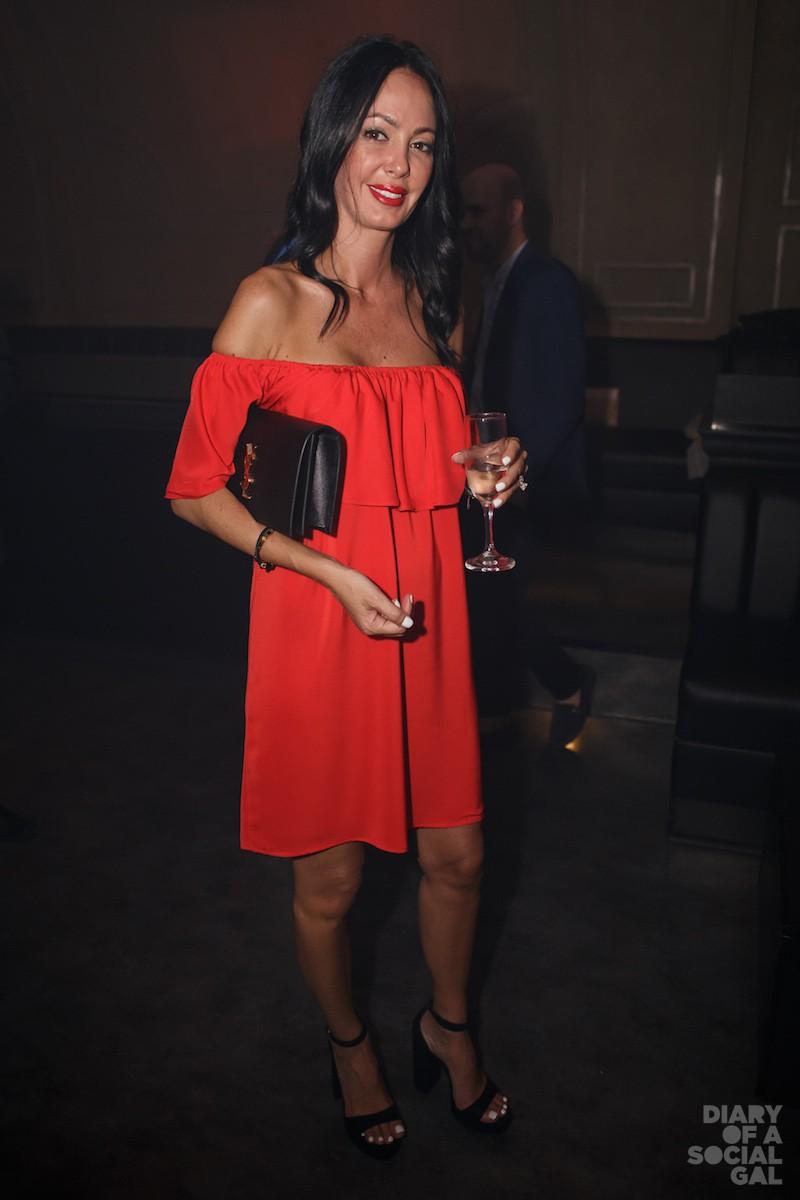 DRESSED TO FRILL: Designer VANESSA PIZZI.