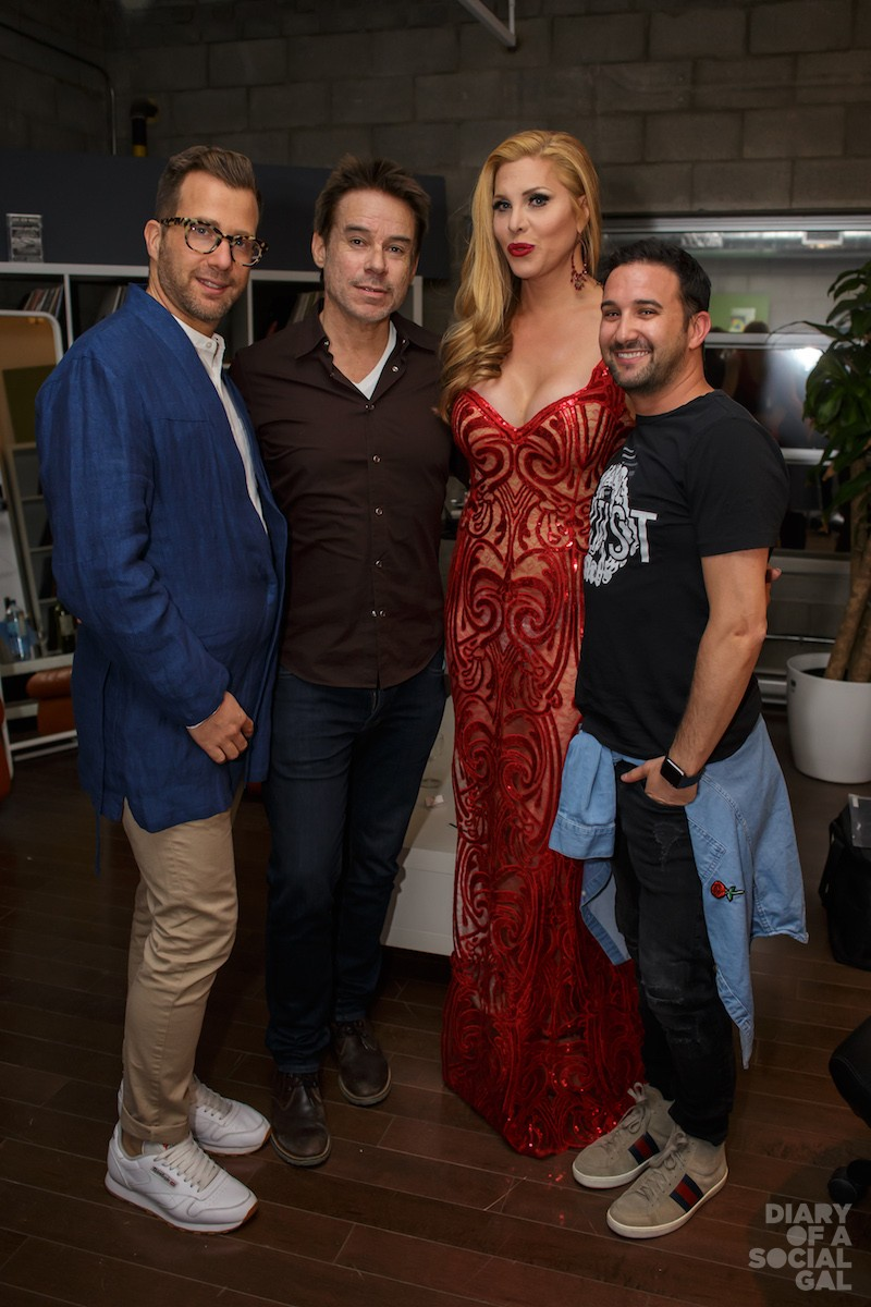 CANDIS CORNER: Stylist TAL FISHER, agent BARRY GARBER, host / featured performer CANDIS CAYNE, Never Apart / Lightspeed PR pro BRADLEY GRILL.