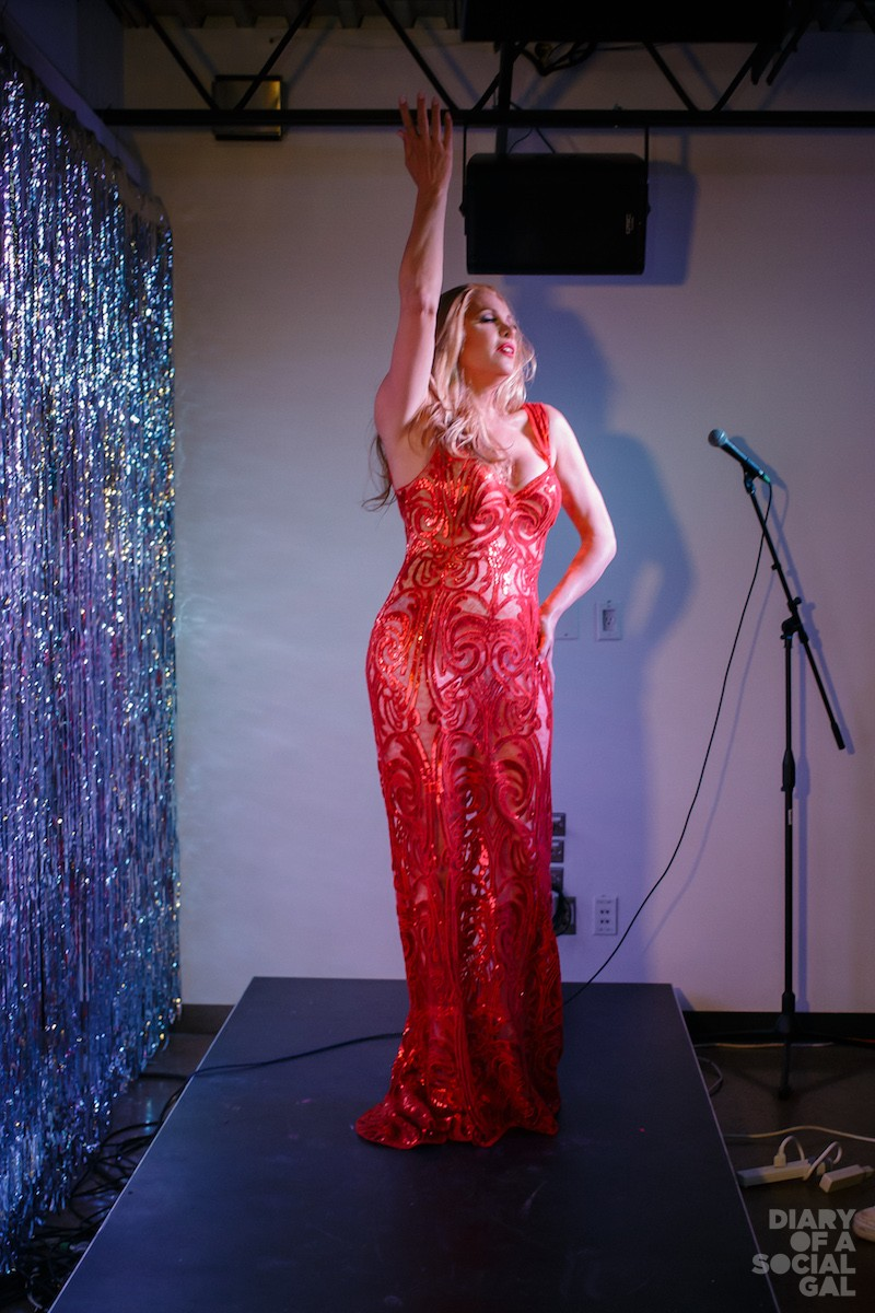AS ONLY CANDIS CAN! Host / featured performer   CANDIS CAYNE dazzles in custom CLAY G. SADLER.