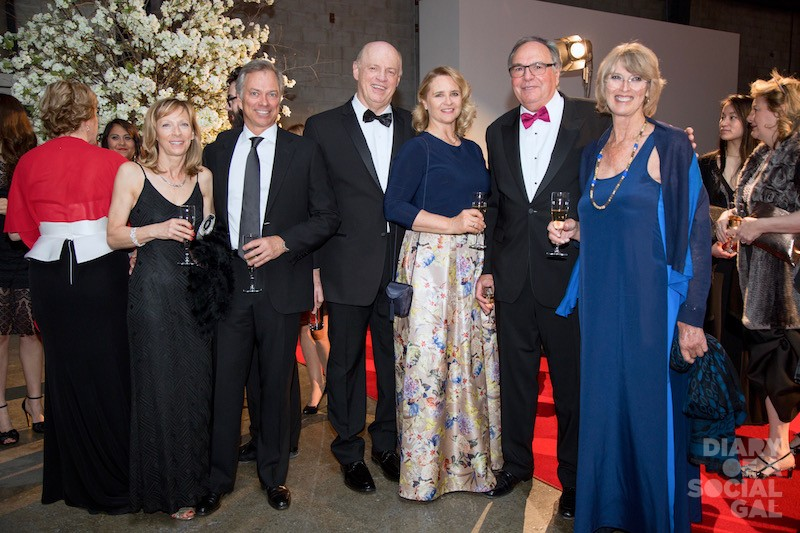 HIGH STYLE, BIG SMILES :Guests LOUISE BOYER, PIERRE LAPORTE, DANIEL FOURNIER, CAROLINE DROUIN, hon. Co-chair ROBERT TESSIER, and wife DENYSE TESSIER.