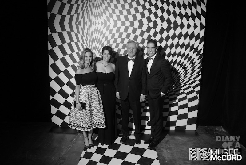 MONOCHROMATIC MOMENT: SANDRA FERREIRA, NATHALIE LÉVESQUE, HONOURARY CHAIR JEAN HOUDE, GERALD KOUNADIS.