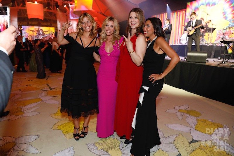CELEBRITY SOCIAL GALS: Songstress IMA, actress and radio host JULIE DU PAGE, in RW & CO,  journalist SOPHIE DUROCHER, and emcee, media personality ISABELLE RACICOT, in CARMEN MARC VALVO.