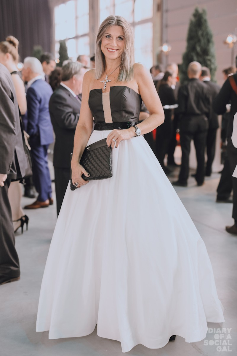 PARTY PRINCESS: NATHALY THIBAULT in SHERRI HILL, CHANEL.