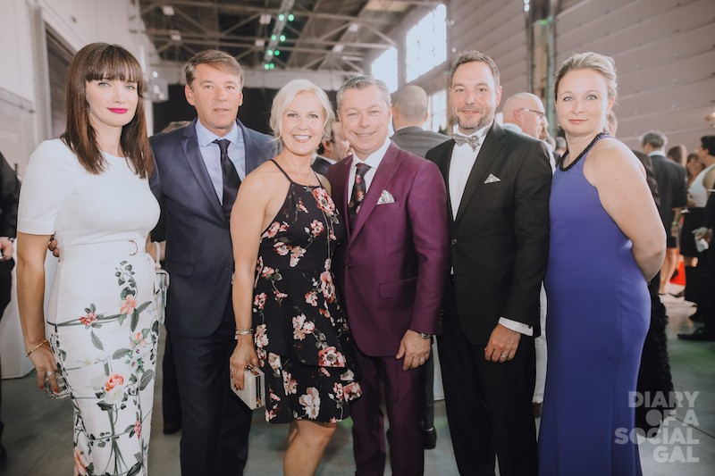 DREAM TEAM: MELANIE CHARBONNEAU, Quebec tourism ceo YVES LALUMIERE, CHARLENE VILLENEUVE, Octane racing chief and F1 GP president / CEO FRANCOIS DUMONTIER, MARC SAVARD, EVE PAIO.