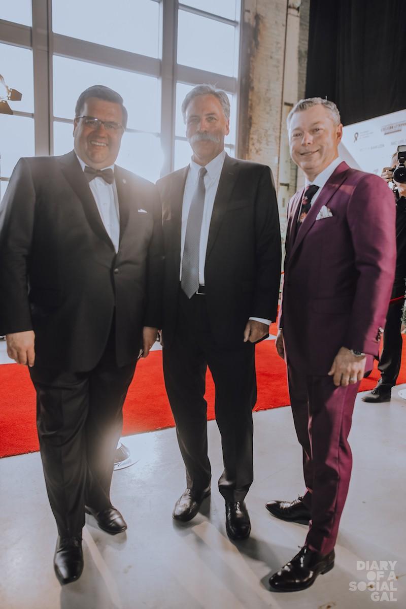 $ SHOT! Montreal Mayor DENIS CODERRE, F1 CEO CHASE CAREY, Grand Prix Du Canada CEO/Octane Chief FRANCIS DUMONTIER.