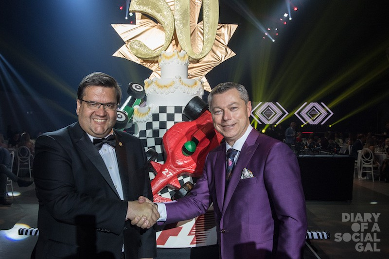 SHAKING THINGS UP FOR #F1GP50!  Montreal mega-mayor DENIS CODERRE and Octane Racing Group chief / F1 Grand Prix CEO FRANÇOIS DUMONTIER mark the 50th.