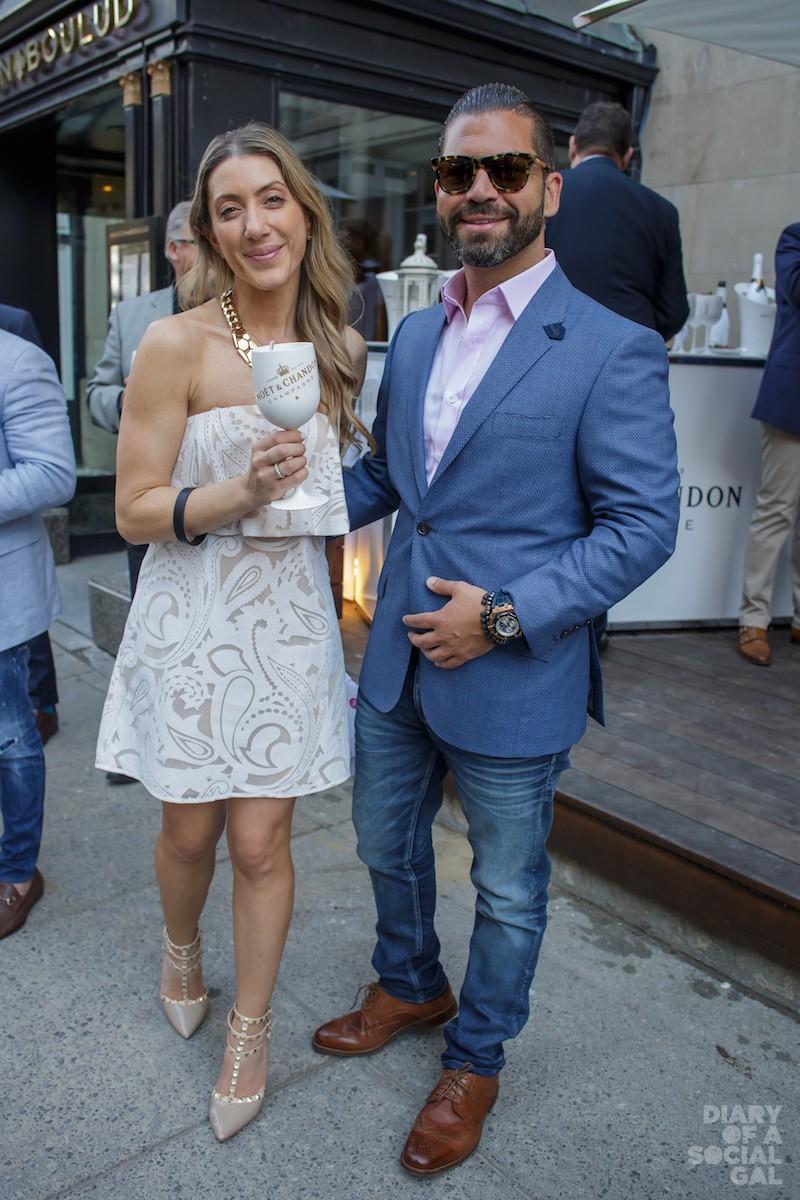 ALL IN THE GLAM FAM: Ritz-Carlton Montreal PR director KATIA PICCOLINO, Mr. Moetreal MOE TAWIL.