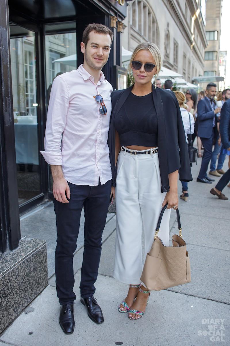 NIFTY NEWLYWEDS: DAVID WOODS and wife, model KATIA KONONOVA.