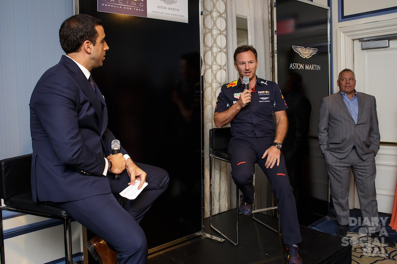 AN EXCLUSIVE VIP CHAT WITH RED BULL F1 TEAM PRINCIPAL CHRISTIAN HORNER.